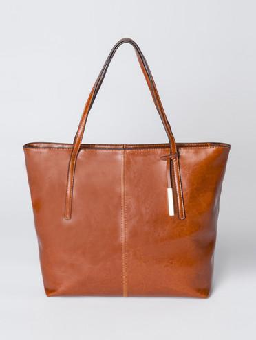 Сумка кожа теленок, цвет рыжий, арт. 33007351  - цена 5290 руб.  - магазин TOTOGROUP