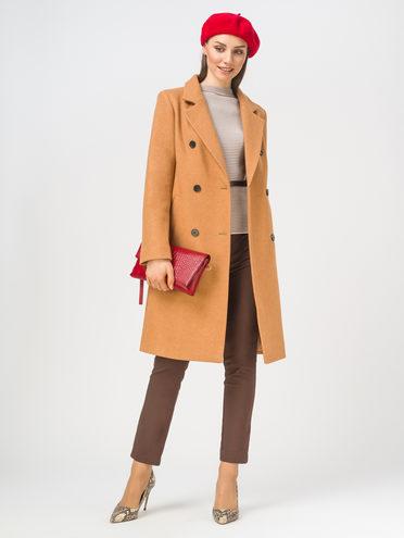Текстильное пальто 35% шерсть, 65% полиэстер, цвет рыжий, арт. 33810092  - цена 6290 руб.  - магазин TOTOGROUP