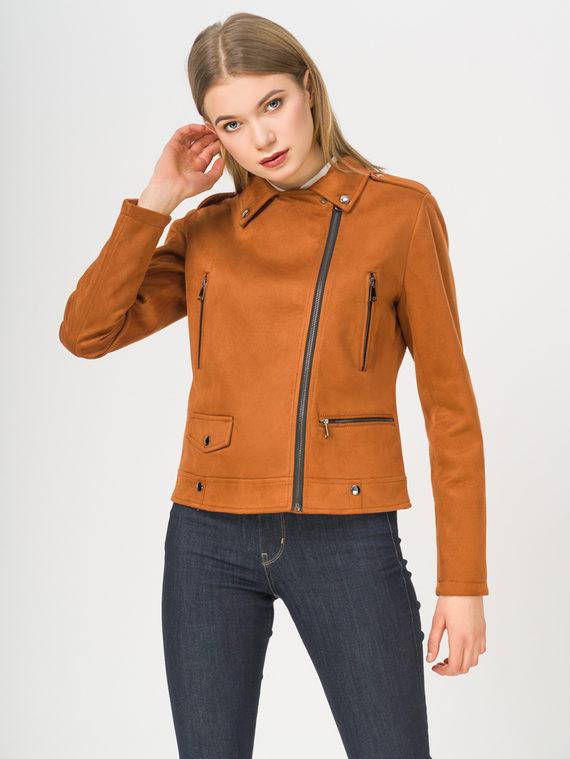 Кожаная куртка эко-замша 100% П/А, цвет рыжий, арт. 33810220  - цена 2990 руб.  - магазин TOTOGROUP