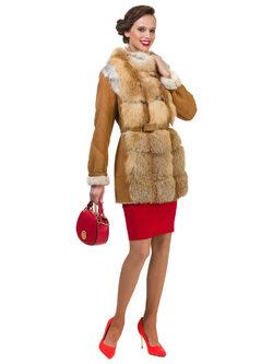 Дубленка дуб. овчина, цвет рыжий, арт. 33901115  - цена 44990 руб.  - магазин TOTOGROUP