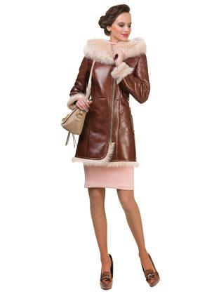 Дубленка дуб. овчина, цвет рыжий, арт. 33902926  - цена 37990 руб.  - магазин TOTOGROUP