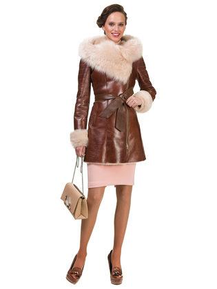Дубленка дуб. овчина, цвет рыжий, арт. 33902927  - цена 42490 руб.  - магазин TOTOGROUP
