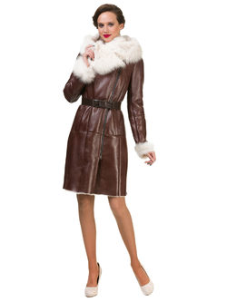 Дубленка дуб. овчина, цвет рыжий, арт. 33902928  - цена 39990 руб.  - магазин TOTOGROUP