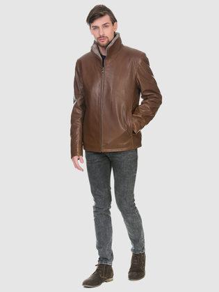 Кожаная куртка кожа баран, цвет рыжий, арт. 33902951  - цена 28490 руб.  - магазин TOTOGROUP