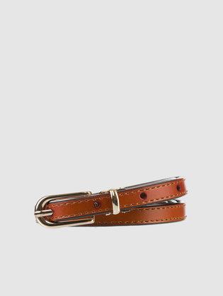 Ремень кожа теленок, цвет рыжий, арт. 33903580  - цена 990 руб.  - магазин TOTOGROUP