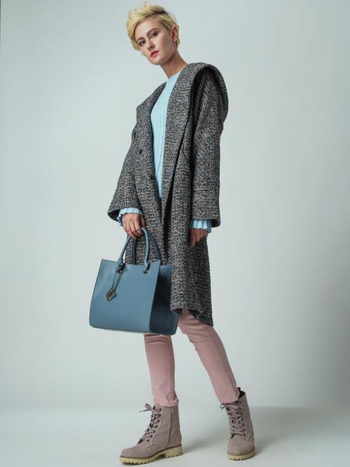 Текстильное пальто артикул 34005674/44 - фото 2