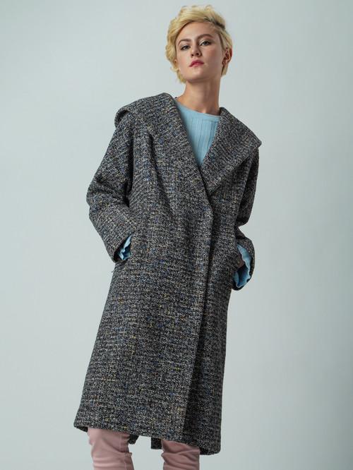 Текстильное пальто артикул 34005674/44