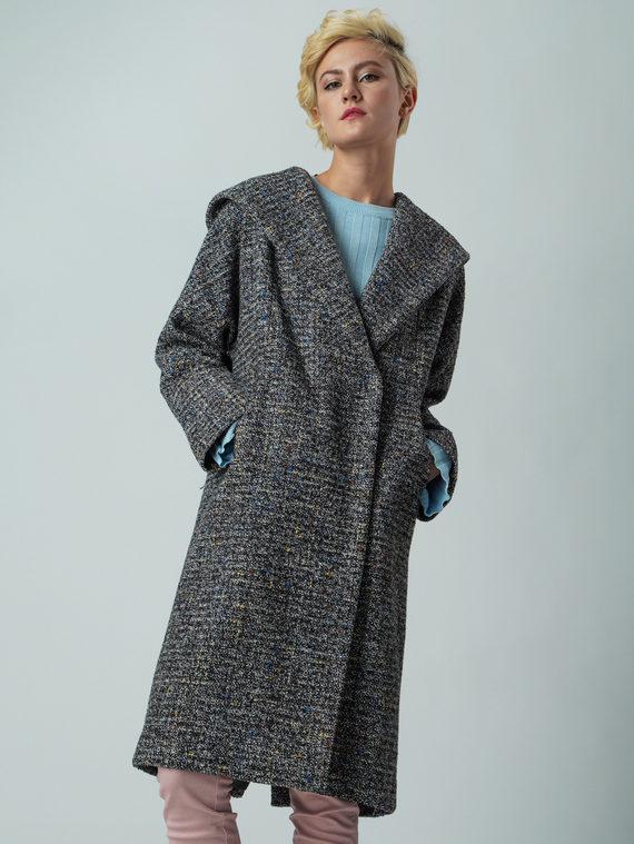 Текстильное пальто 30%шерсть, 70% п\а, цвет микс, арт. 34005674  - цена 5590 руб.  - магазин TOTOGROUP