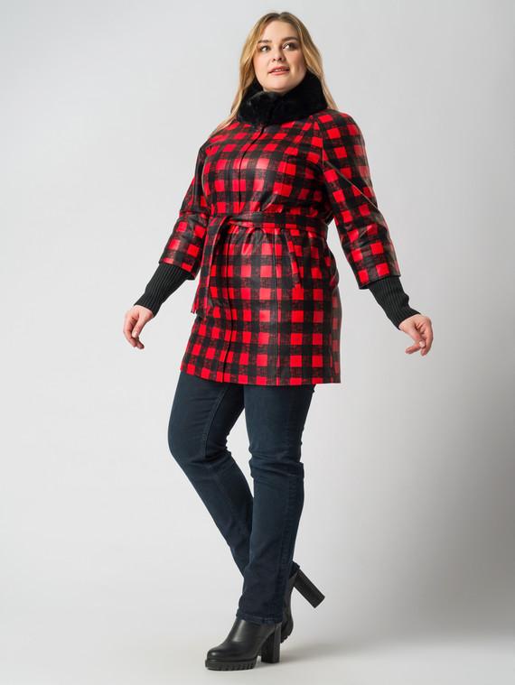 Кожаная куртка эко-кожа 100% П/А, цвет микс, арт. 34005934  - цена 6290 руб.  - магазин TOTOGROUP