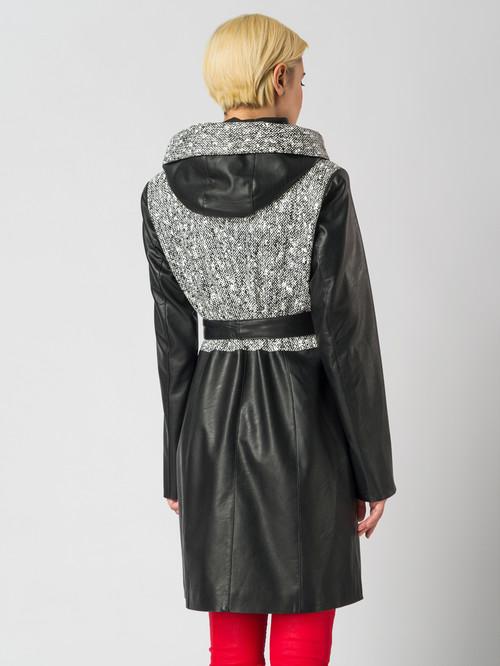 Кожаное пальто артикул 34005941/44 - фото 3