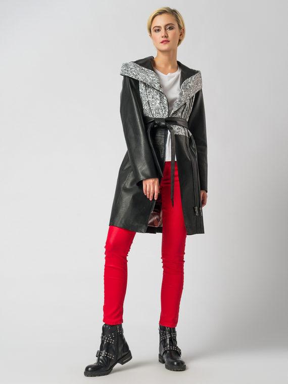 Кожаное пальто эко кожа 100% П/А, цвет микс, арт. 34005941  - цена 5890 руб.  - магазин TOTOGROUP