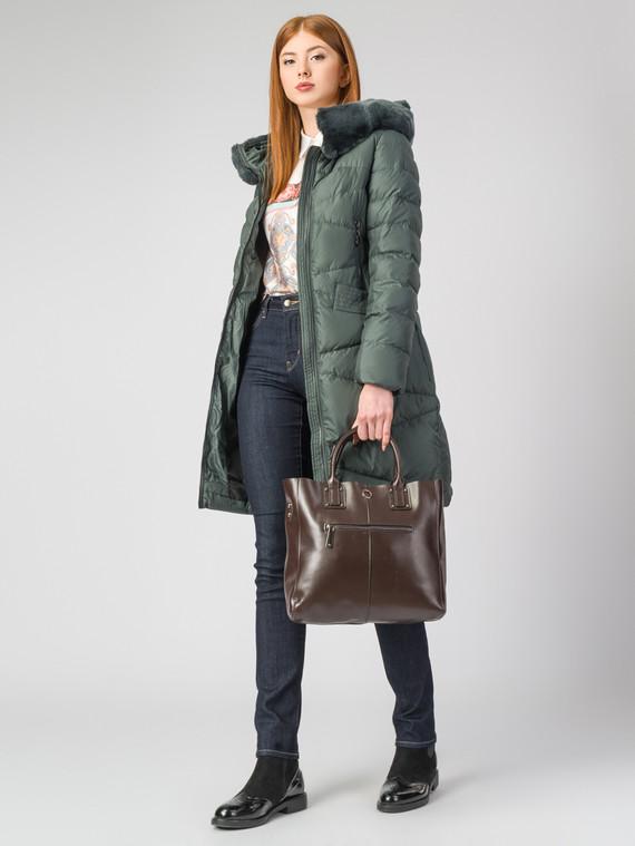 Пуховик текстиль, цвет темно-зеленый, арт. 35006249  - цена 7490 руб.  - магазин TOTOGROUP