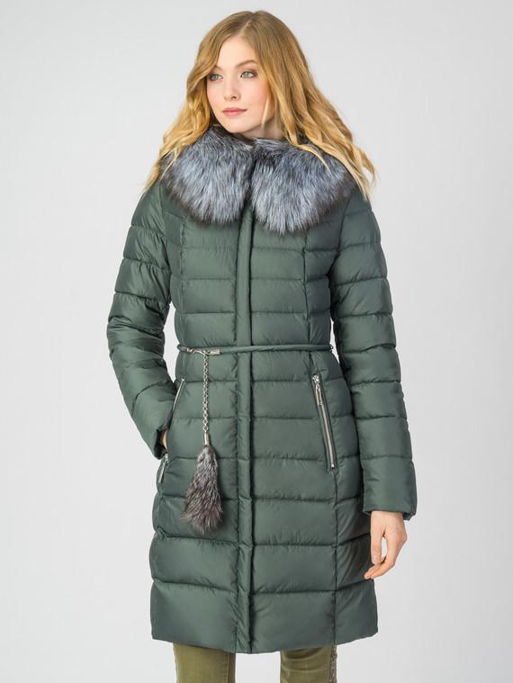 Пуховик текстиль, цвет темно-зеленый, арт. 35006252  - цена 8990 руб.  - магазин TOTOGROUP