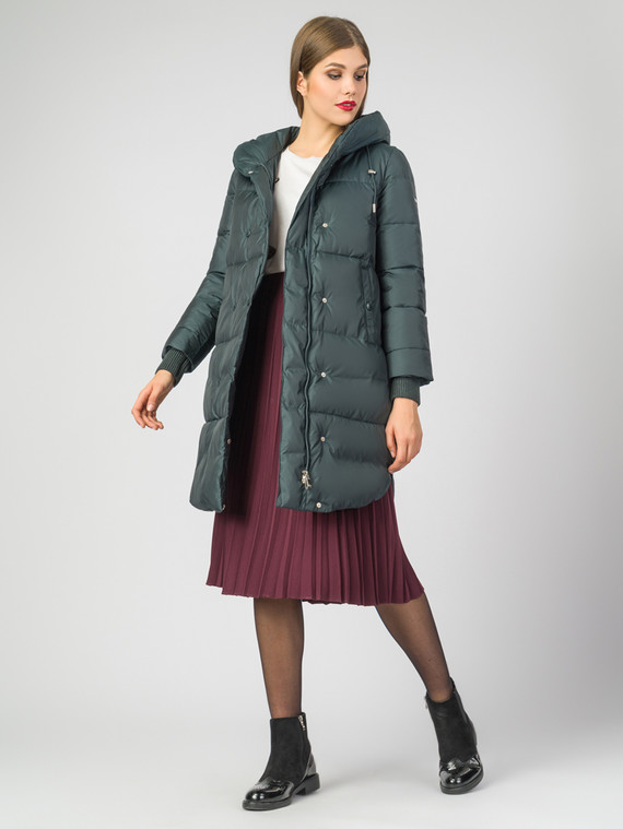 Пуховик текстиль, цвет темно-зеленый, арт. 35006294  - цена 5590 руб.  - магазин TOTOGROUP
