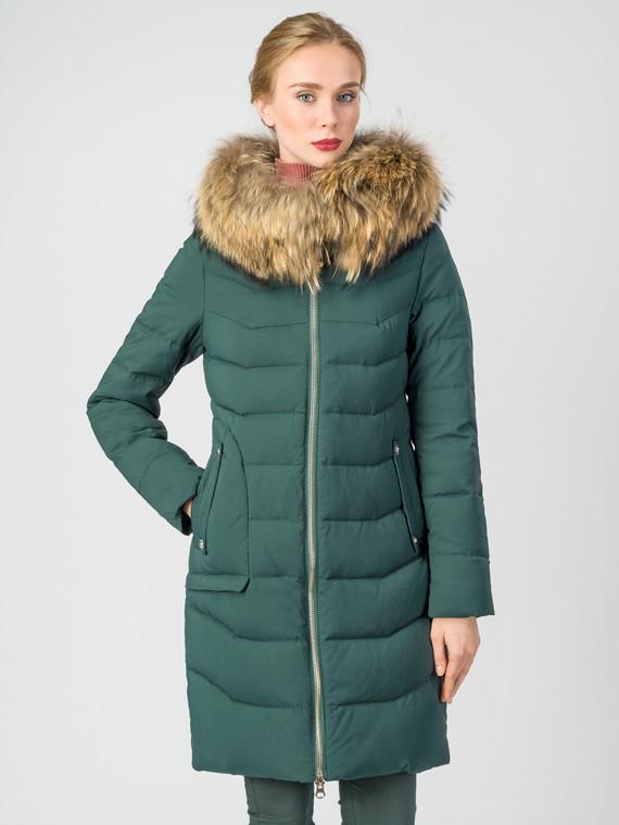 Пуховик текстиль, цвет темно-зеленый, арт. 35006317  - цена 9990 руб.  - магазин TOTOGROUP