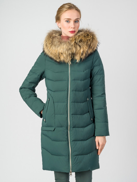 Пуховик текстиль, цвет темно-зеленый, арт. 35006317  - цена 6290 руб.  - магазин TOTOGROUP