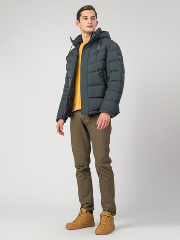 Пуховик текстиль, цвет темно-зеленый, арт. 35006344  - цена 6630 руб.  - магазин TOTOGROUP