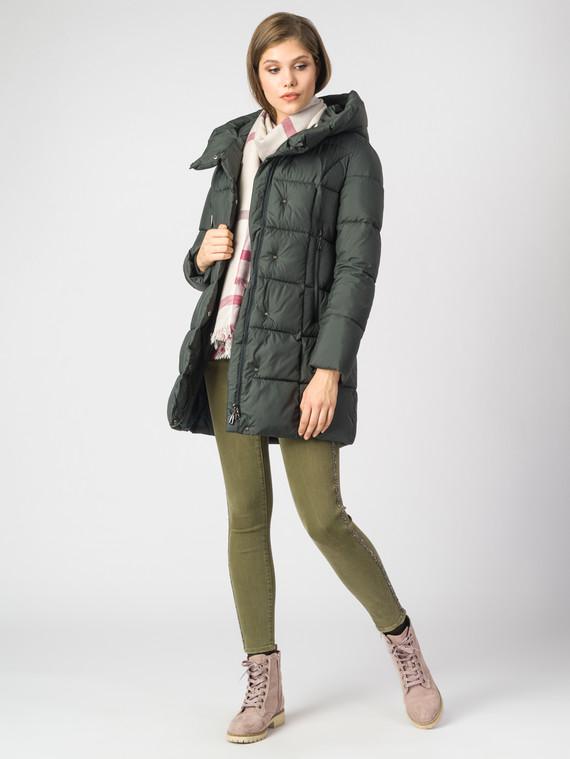 Пуховик текстиль, цвет темно-зеленый, арт. 35006441  - цена 7990 руб.  - магазин TOTOGROUP