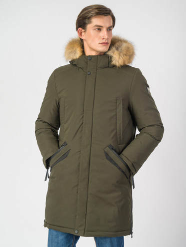 Пуховик текстиль, цвет темно-зеленый, арт. 35006746  - цена 10590 руб.  - магазин TOTOGROUP