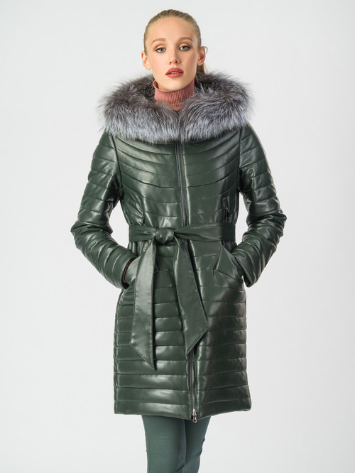 Кожаное пальто артикул 35006840/44 - фото 2