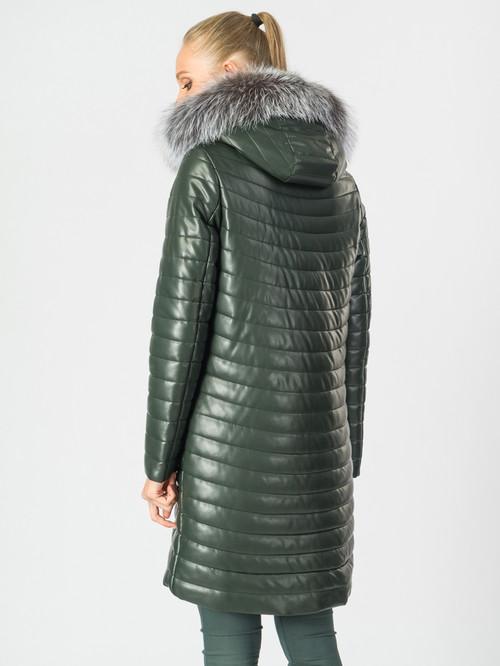 Кожаное пальто артикул 35006840/44 - фото 3