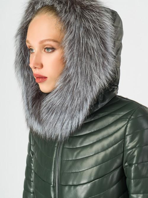 Кожаное пальто артикул 35006840/44 - фото 4