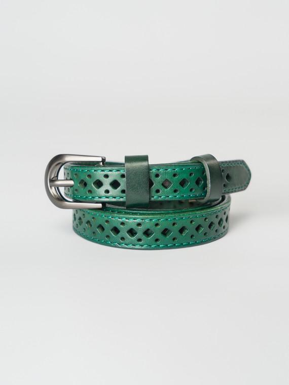 Ремень кожа теленок, цвет темно-зеленый, арт. 35007257  - цена 990 руб.  - магазин TOTOGROUP