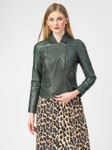 Кожаная куртка кожа , цвет темно-зеленый, арт. 35106226  - цена 9490 руб.  - магазин TOTOGROUP