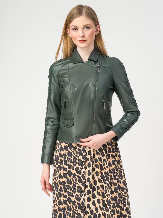 Кожаная куртка кожа , цвет темно-зеленый, арт. 35106226  - цена 5890 руб.  - магазин TOTOGROUP