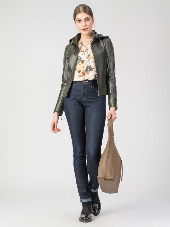 Кожаная куртка кожа , цвет темно-зеленый, арт. 35106259  - цена 7990 руб.  - магазин TOTOGROUP