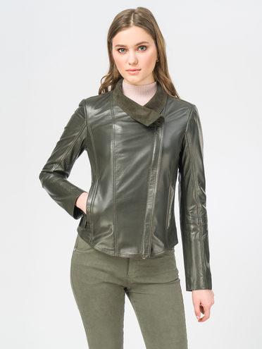 Кожаная куртка кожа , цвет темно-зеленый, арт. 35106270  - цена 7490 руб.  - магазин TOTOGROUP