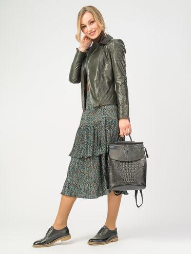 Кожаная куртка кожа , цвет темно-зеленый, арт. 35106302  - цена 7990 руб.  - магазин TOTOGROUP