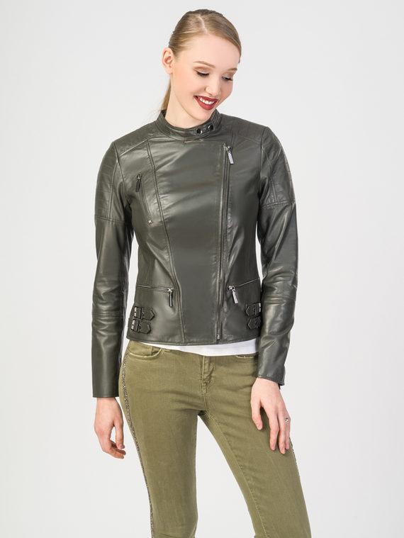 Кожаная куртка кожа , цвет темно-зеленый, арт. 35106303  - цена 8490 руб.  - магазин TOTOGROUP