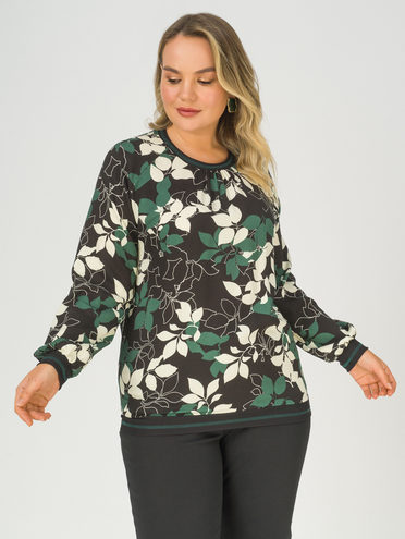 Блуза 100% вискоза, цвет темно-зеленый, арт. 35811243  - цена 2690 руб.  - магазин TOTOGROUP