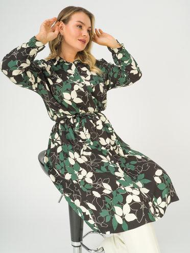 Платье 100% вискоза, цвет темно-зеленый, арт. 35811244  - цена 2550 руб.  - магазин TOTOGROUP