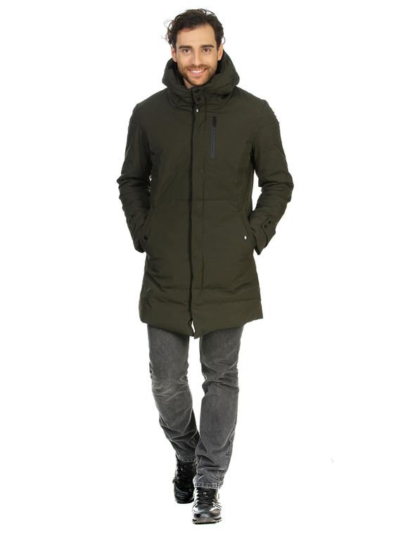 Пуховик текстиль, цвет темно-зеленый, арт. 35901026  - цена 4490 руб.  - магазин TOTOGROUP