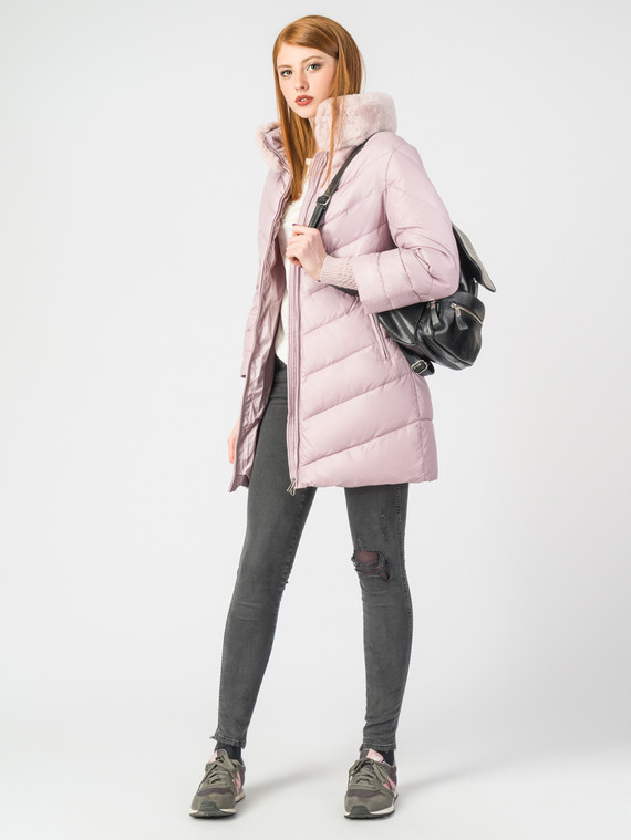 Пуховик текстиль, цвет розовый, арт. 36006524  - цена 7990 руб.  - магазин TOTOGROUP