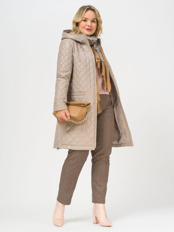 Кожаное пальто эко-кожа 100% П/А, цвет кремовый, арт. 36810039  - цена 8990 руб.  - магазин TOTOGROUP