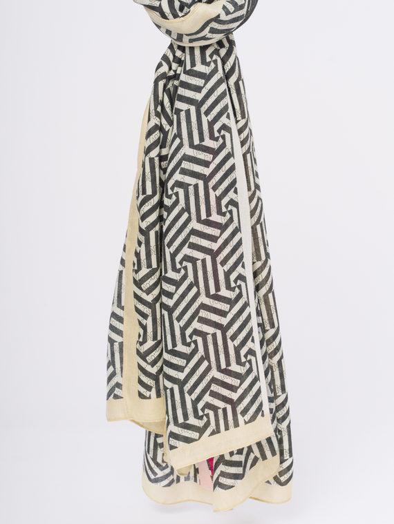 Шарф 50%хлопок,50%бамбук, цвет кремовый, арт. 36810296  - цена 940 руб.  - магазин TOTOGROUP
