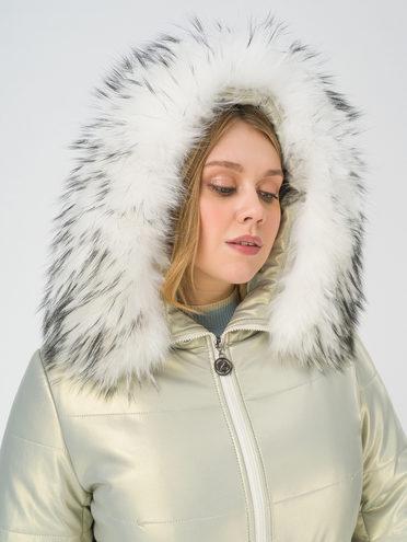 Кожаное пальто эко-кожа 100% П/А, цвет кремовый, арт. 36810766  - цена 16990 руб.  - магазин TOTOGROUP