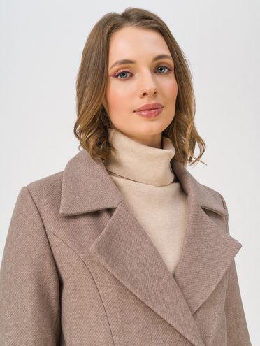 Текстильное пальто 70% полиэстер, 20% шесть, 10% вискоза, цвет кремовый, арт. 36810869  - цена 8990 руб.  - магазин TOTOGROUP