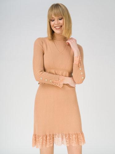 Платье 65% вискоза,35% нейлон, цвет кремовый, арт. 36811166  - цена 1750 руб.  - магазин TOTOGROUP