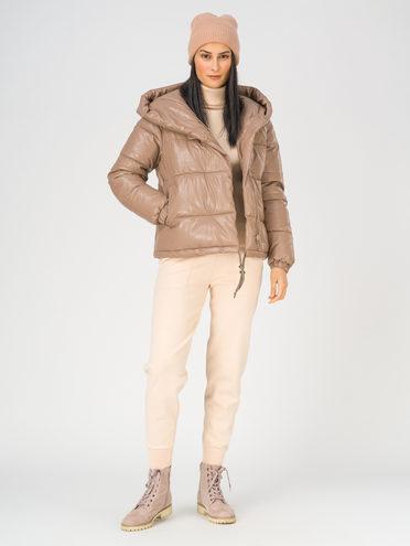 Кожаная куртка эко-кожа 100% П/А, цвет кремовый, арт. 36811208  - цена 2990 руб.  - магазин TOTOGROUP
