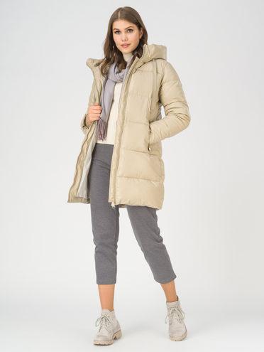 Кожаная куртка эко-кожа 100% П/А, цвет кремовый, арт. 36811210  - цена 4990 руб.  - магазин TOTOGROUP