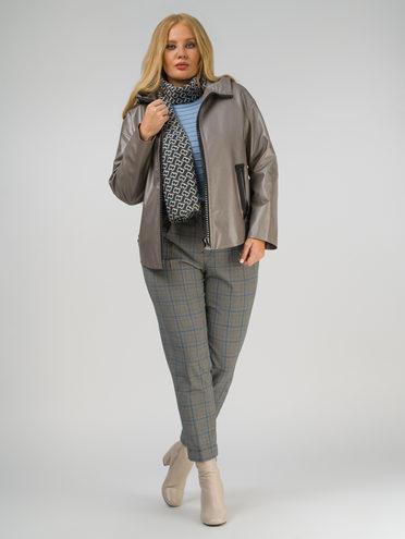 Кожаная куртка эко-кожа 100% П/А, цвет металлик, арт. 37809934  - цена 7990 руб.  - магазин TOTOGROUP