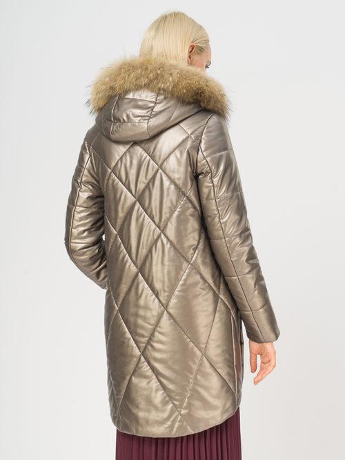 Кожаное пальто артикул 39108576/42 - фото 3