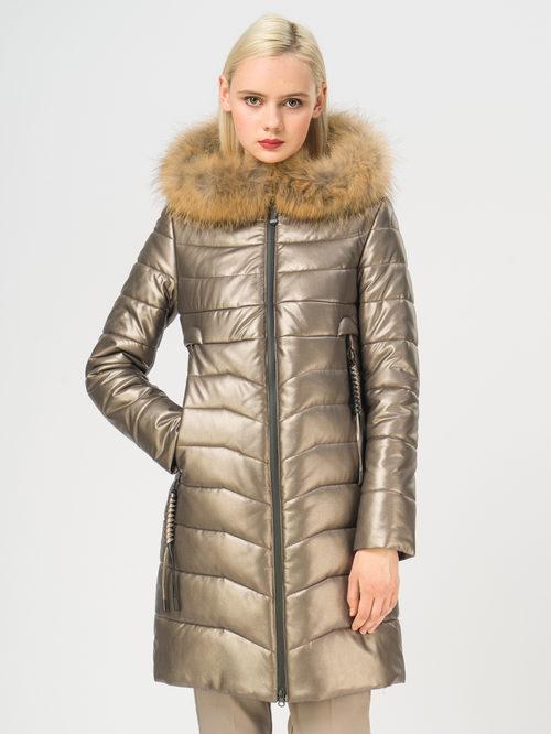 Кожаное пальто артикул 39108577/42