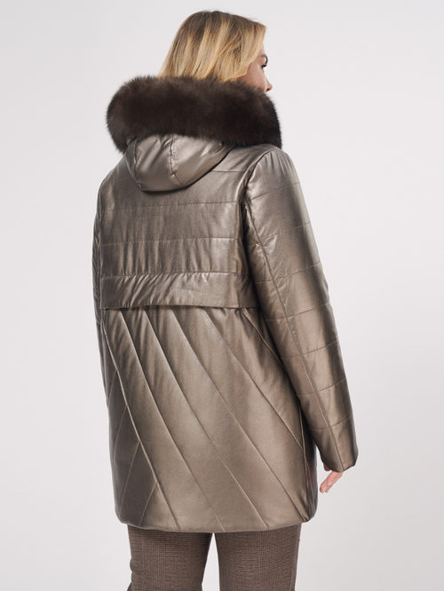 Кожаное пальто артикул 39109022/46 - фото 3