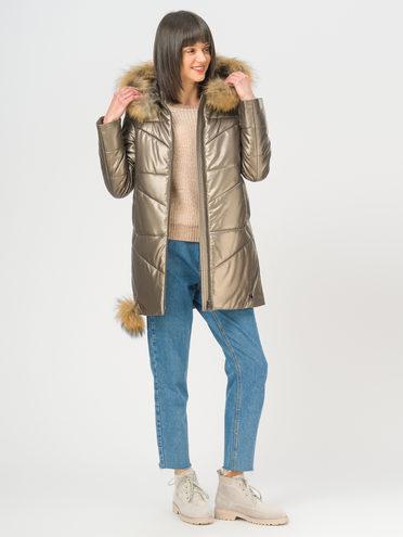 Кожаная куртка эко-кожа 100% П/А, цвет коричневый металлик, арт. 39109049  - цена 14190 руб.  - магазин TOTOGROUP