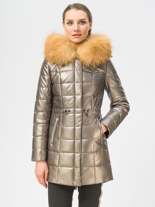 Кожаное пальто артикул 39109050/42 - фото 2